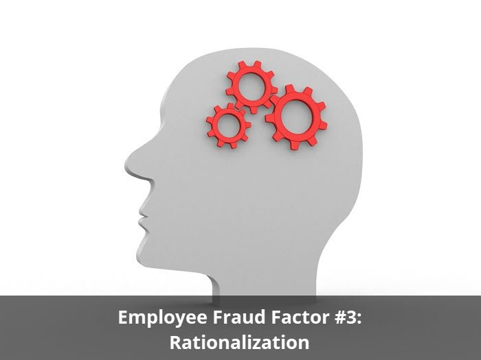 Employee Fraud Factor #3: Rationalization