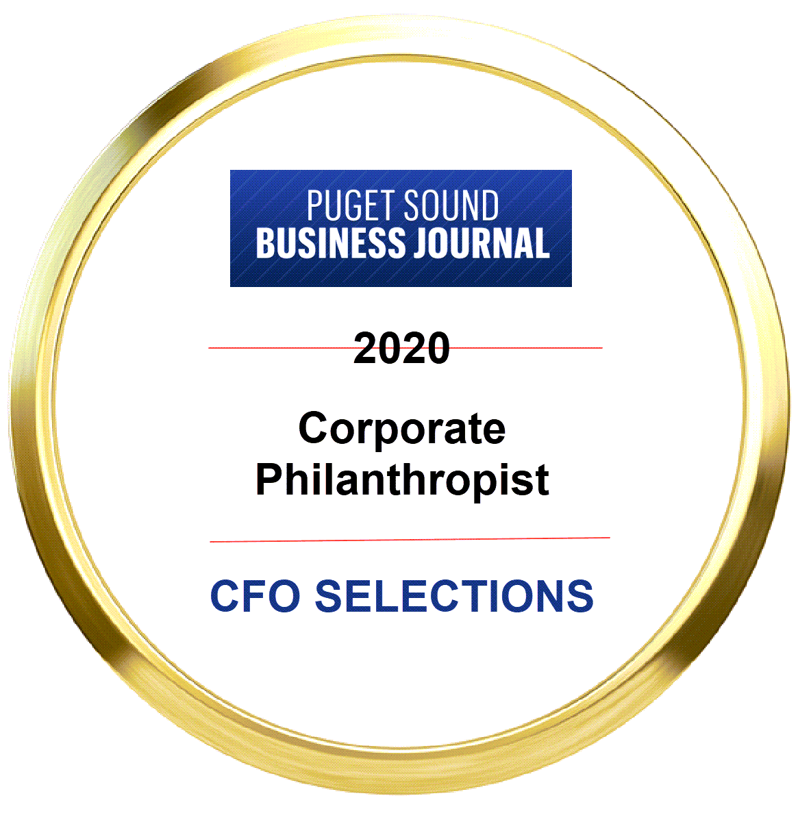 CFO Selections on List of Puget Sound Business Journal's Top Corporate Philanthropists 2020